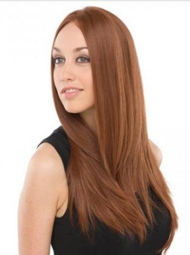 Straight Auburn Lace Front Flexibility Celebrity Wigs