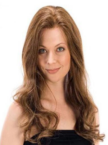 Brown 100% Hand-tied Wavy Perfect Long Wigs
