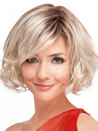 Bobs Blonde Wavy Cheapest Short Wigs
