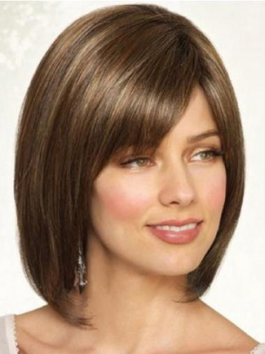 Bobs Straight Brown Cheapest Medium Wigs