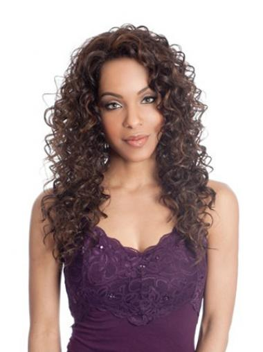 Brown Curly Soft Long Wigs