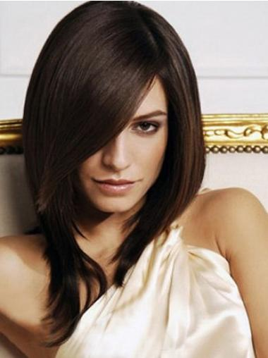 Brown Layered Straight Affordable Synthetic Wigs