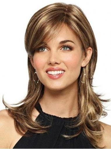 Brown Layered Wavy Suitable Synthetic Wigs