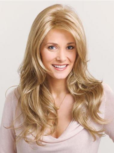 Blonde Wavy Layered Fashion Long Wigs