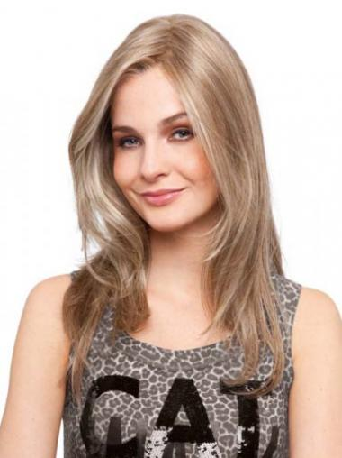 Blonde Straight Soft Long Wigs