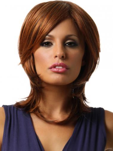 Auburn Layered Straight Perfect Medium Wigs