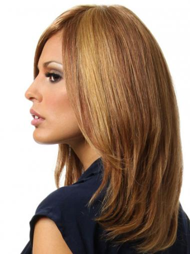 Brown Without Bangs Straight Hairstyles Remy Human Lace Wigs