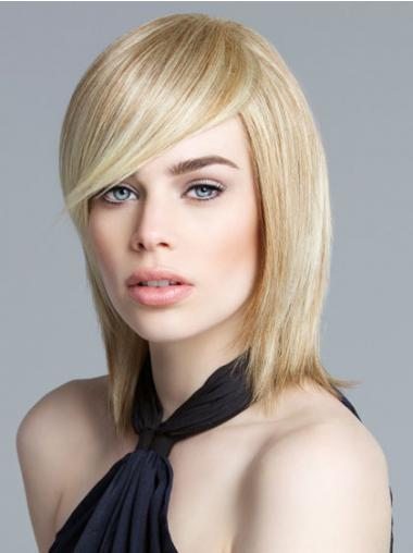 Blonde Bobs Straight Soft Medium Wigs
