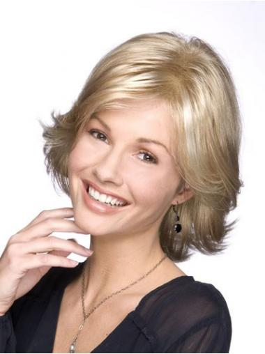 Blonde Layered Wavy Durable Classic Wigs
