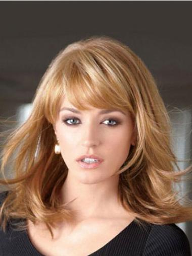 Straight Blonde Lace Front Fabulous Medium Wigs