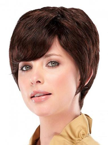 Straight Layered Auburn Exquisite Synthetic Wigs