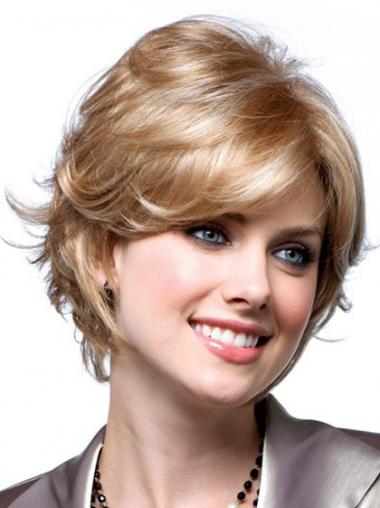 Blonde Layered Synthetic Wavy Exquisite Short Wigs