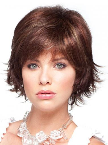 Straight Layered Auburn Discount Synthetic Wigs