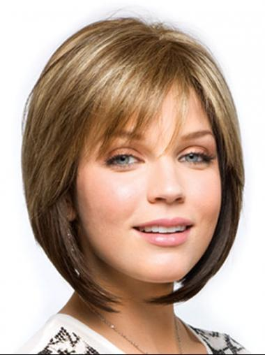 Synthetic Straight High Quality Medium Wigs