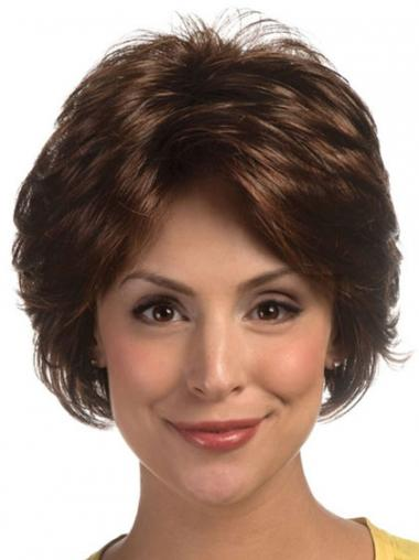 Wavy Brown Layered Affordable Classic Wigs