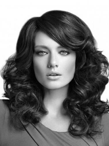 Layered Black Curly Stylish Long Wigs