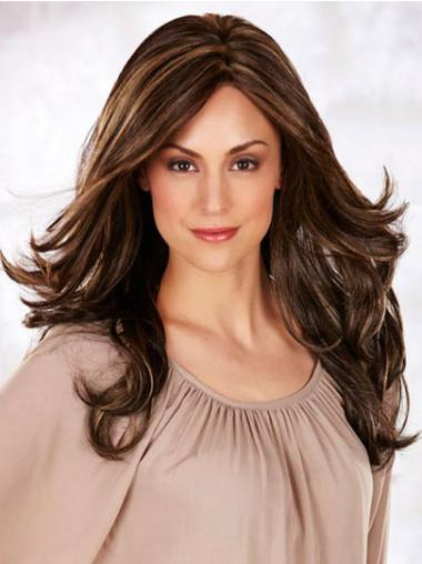 Wavy Brown Layered Exquisite Long Wigs