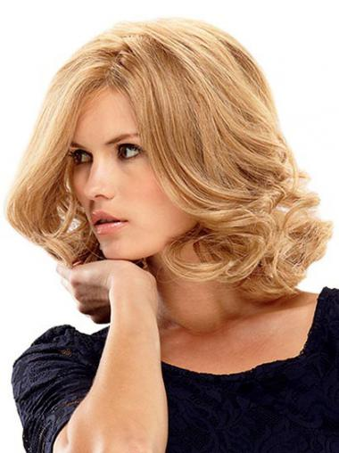 Blonde Wavy Layered Gorgeous Lace Front Wigs