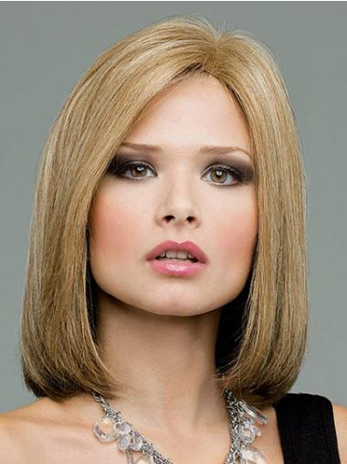 Bobs Blonde Straight Beautiful Medium Wigs