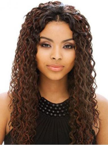 Curly Auburn Indian Remy Hair Fabulous Human Hair Full Lace Wigs