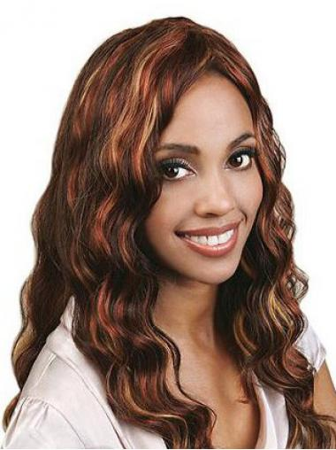Auburn Indian Remy Hair Wavy Incredible Human Hair Full Lace Wigs