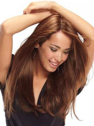 Auburn 100% Hand-tied Straight Ideal Human Hair Wigs