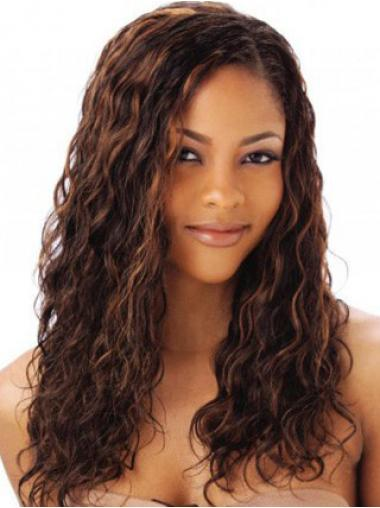 Auburn Indian Remy Hair Wavy Modern Human Hair Full Lace Wigs