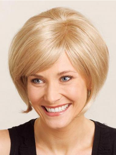 Straight Blonde Bobs Affordable Medium Wigs