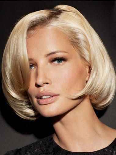 Fashion Straight Blonde Bobs Medium Wigs