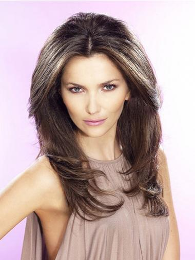 Straight Brown Lace Front Cheap Long Wigs