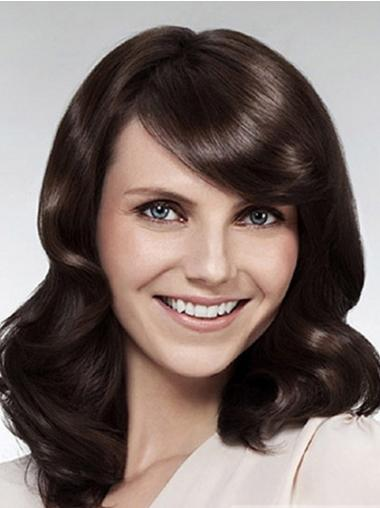 Brown Lace Front Wavy No-fuss Long Wigs