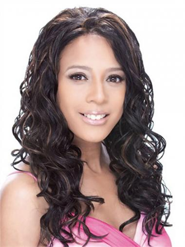 Wavy Black Lace Front Cheapest Long Wigs