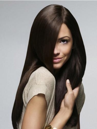 Black 100% Hand-tied Straight Sassy Long Wigs