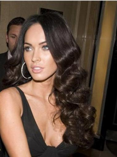 Wavy Black 100% Hand-tied Best Celebrity Wigs