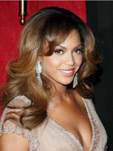 Brown Layered Wavy Stylish Celebrity Lace Wigs
