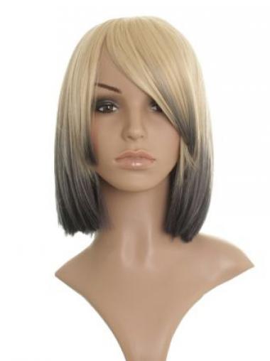 Straight Blonde Bobs Convenient Celebrity Wigs