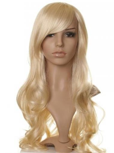 Wavy Blonde With Bangs Best Synthetic Wigs
