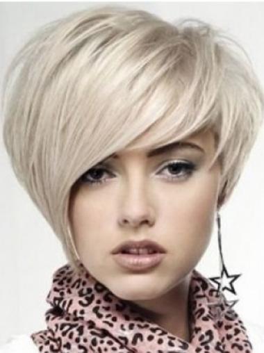 Straight Blonde Layered Cheapest Medium Wigs
