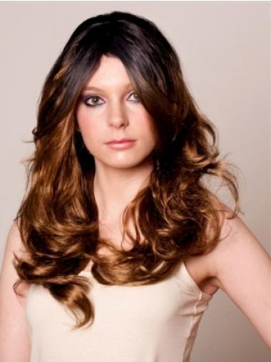 Brown Layered Wavy Soft Celebrity Wigs