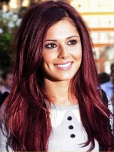 Red Without Bangs Straight Style Cheryl Cole wigs