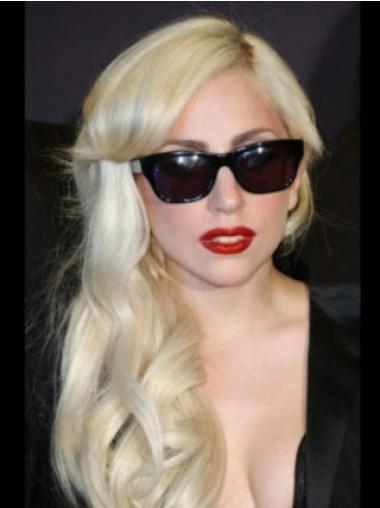 Blonde With Bangs Wavy Sassy Lady Gaga wigs
