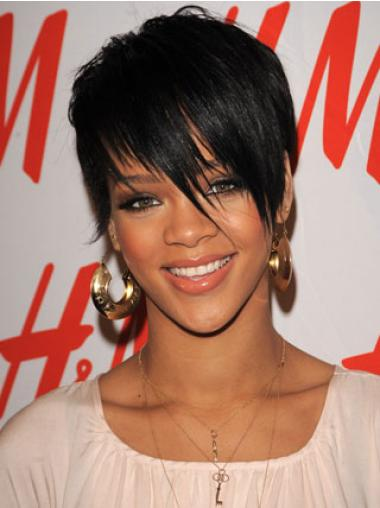 Straight Boycuts Black Gorgeous Rihanna wigs