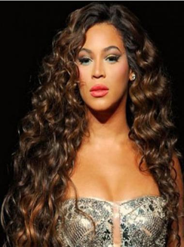 Auburn Brazilian Remy Hair Curly Sleek Beyonce wigs