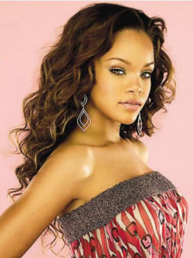 Auburn Indian Remy Hair Curly Style Lace Front Wigs