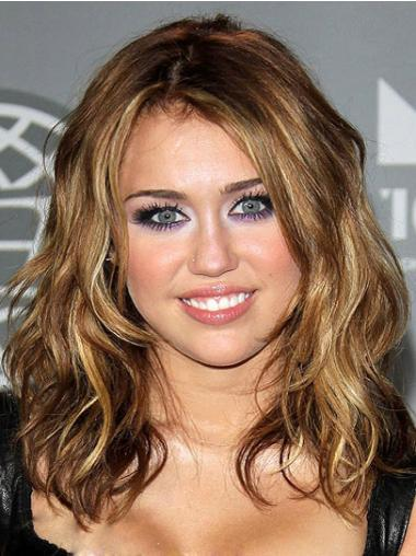 Brown Layered Wavy Hairstyles Celebrity Wigs