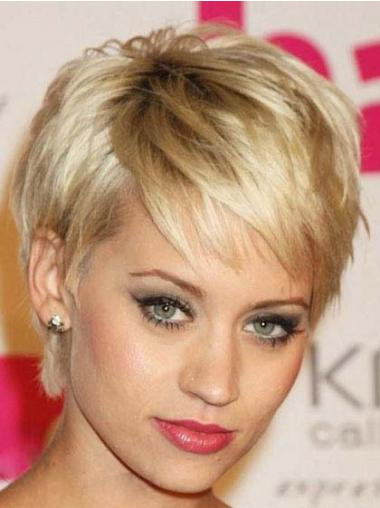 Blonde Boycuts Straight Gorgeous Celebrity Wigs