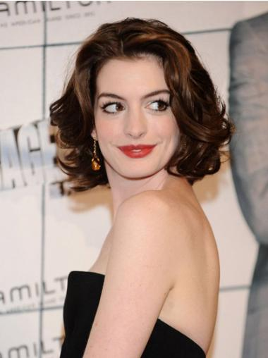 Auburn Layered Wavy Fashion Anne Hathaway wigs