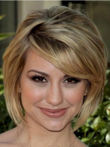 Bobs Blonde Straight Soft Celebrity Wigs