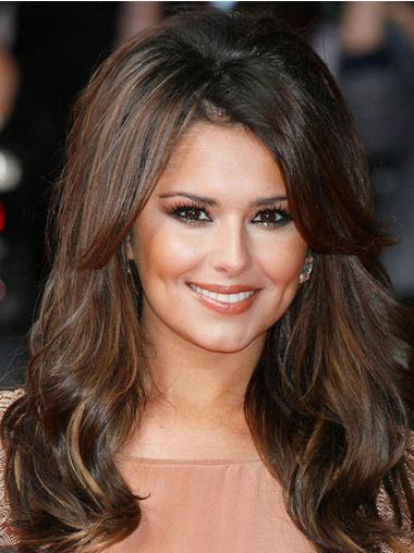 Brown Lace Front Wavy Hairstyles Cheryl Cole wigs