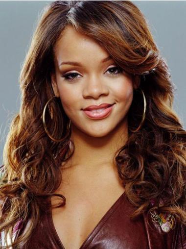 With Bangs Auburn Curly Modern Rihanna wigs